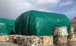 Bâches de couverture de déchets