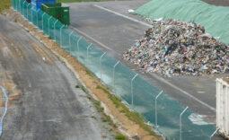 Couverture temporaire de déchets