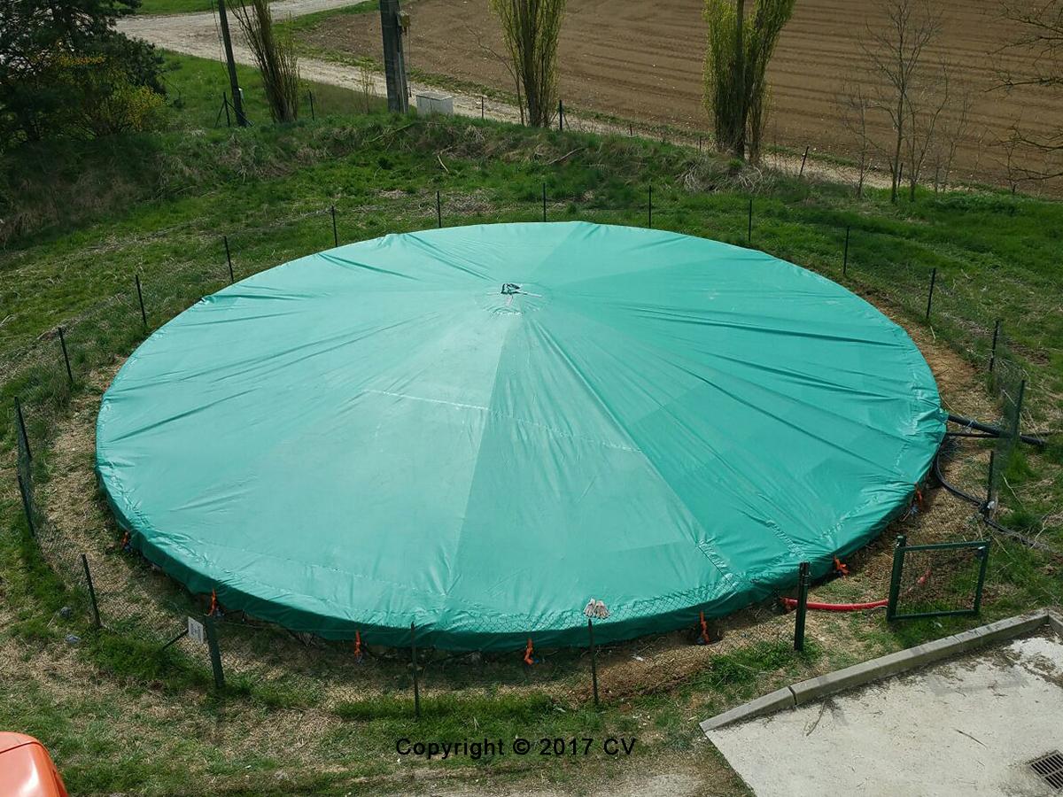 Bâches de couverture de bassins de rétention