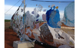 Filets anti envols de déchets