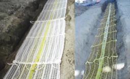 Schutznetz für Rohrleitungen und unterirdische Baustrukturen